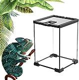 HTDHS Terrario De Reptiles, Kit De Hábitat De Selva Tropical, Ventilación Y Alimentación De Pantalla Superior, Fácil Limpieza Y Movimiento De Jaula De Hábitat para Criadero, para Insectos