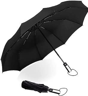 Windproof Umbrella 10 ribs Luxury Big Three Folding Umbrellas Automatic Coating Travel Umbrella