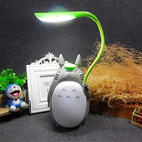 WanVi Totoro de Dibujos Animados USB Lámpara de Mesa Recargable Niños creativos Lámpara de Escritorio de Aprendizaje Luz Nocturna Luces Decorativas de Ahorro de energía LED,A