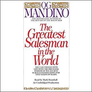 The Greatest Salesman in the World                   Written by:                                                                                                                                 Og Mandino                               Narrated by:                                                                                                                                 Mark Bramhall                      Length: 2 hrs and 33 mins     45 ratings     Overall 4.8