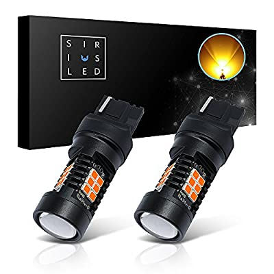SiriusLED Super Bright Projection White Red Amber Turn Signal Break Tail LED Light Bulb 1156 1157 3157 7440 7443 T20