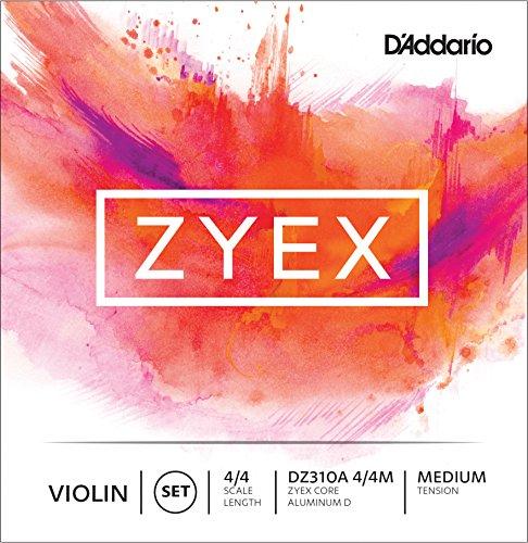 D'Addario DZ310A-4/4M Zyex Violinen Saitensatz synthetische Faser 4/4 Medium