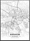 Póster de mapa de Almere Alkmaar Arnhem Amersfoort Haarlem Utrecht Zwolle Países Bajos 40 * 60 sin marco