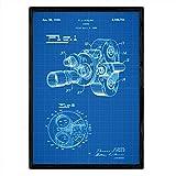 Nacnic Poster patentierte Kamera 8 Millimeter. Blatt mit