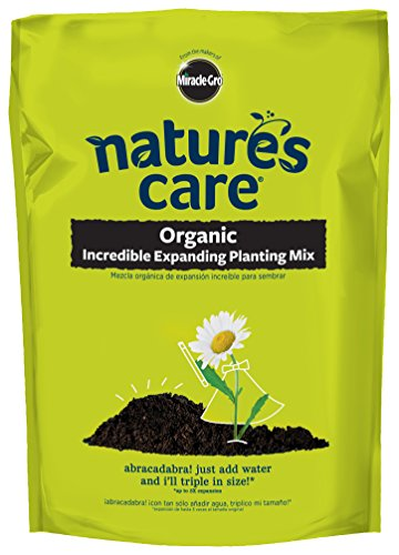 Miracle-Gro 74167120 Nature's Care Organic Incredible Expanding Planting Mix, 0.67 cu. ft