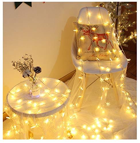 Shhjpy lichtsnoer, feeerik, 80 slingers, 16,5 feet Firefly Lights Sneeuwvlok Lights Christmas Decor Christmas Lights