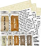 564 Labels: 484 Spice Names + 80 Blank Labels   Most Script Preprinted Black & White Letters Label Set   Alphabetized Spice Label System by KITCHEN ALMIGHTY   Spice Jar Labels Spice Rack Organization