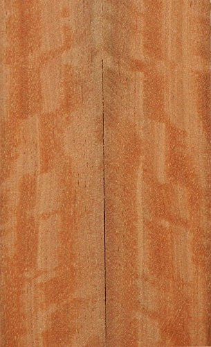 """Satinwood Pyinma (2 pc) Knife Scales 1/4""""x1 1/2""""x5"""" 002"""