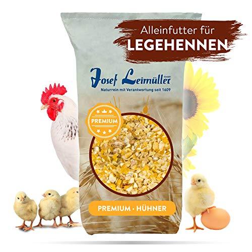 Premium Hühnerfutter 25 Kg | Legemehl Alleinfutter für Legehennen GVO - Gentechnik frei | Erhöhte Legeleistung und Stabilere Eierschalen | Mehrfach gereinigt und staubfrei