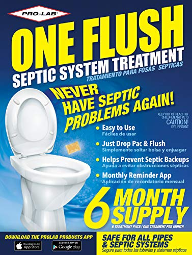 Septic Tank Treatment - 6 Month Supply of Septic Treatment- Dissolvable Septic Tank Treatment Packets - Use Septic Treatment Enzymes Packets Monthly to Prevent Expensive Septic Tank System Backups