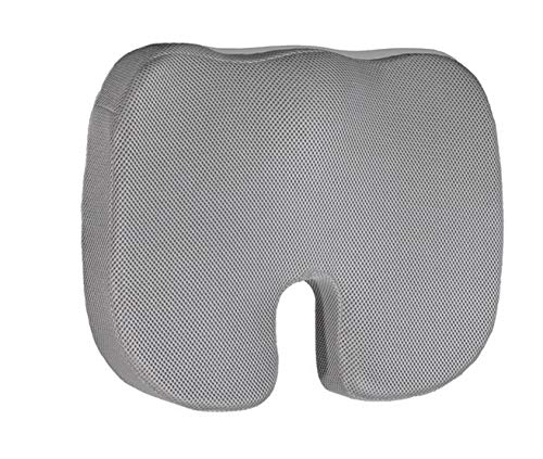 Coop Home Goods Coccyx Orthopedic Seat Cushion - Cooling Bamboo Charcoal Memory Foam for Tailbone Pain - Provides Lower Back Pain and Sciatica Relief - Perfect for Your Office Chair and Car Seat