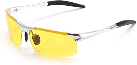 TosGad Night Driving Polarized Glasses for Men, Yellow Glasses for Night Vision, Anti Glare for Safe Driving