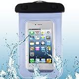 Ausgestattet Hüllen Wasserdicht-Qualitäts-Beutel-Schutzhülle for iPhone 5 & 5s & SE/iPhone 4 & 4S / 3GS / Andere ähnliche Größen-Handys (Pink) Asun (Color : Blue)
