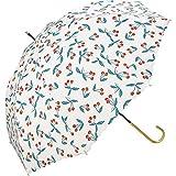 ワールドパーティー(Wpc.) 雨傘 長傘 白 58cm レディース チェリー 16568-09 OF