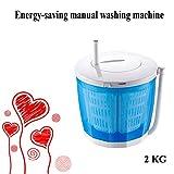Y&J Tragbare Waschmaschine, Mini-Mobile Wäscheschleudern, Nicht Elektrisch 2 In 1 Wasch/Trockner, Für Wohnung, Schlafsaal, Wohnmobil-Camping (blau/Grau/Pink)