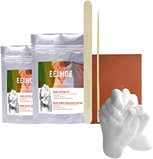 TiSkying Kit de Moulage Keepsake Hands, Kit de Moulage à la Main de Poudre de Moule dimpression de Pied de Main Kit de Mou...