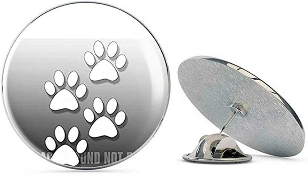 NYC Jewelers Small White Dog Paws ICS (Vinyl Window Puppy) Metal 0.75