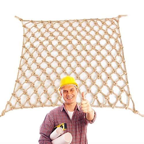 Seguridad Niños Escalada Red De Decoración de Cuerda de Yute - Ingeniería Construcción Valla Anticaída de de Aislamiento de Jardín de Mascotas de Tejido de Yute Multi-Size Malla Protectora Balcon Exte