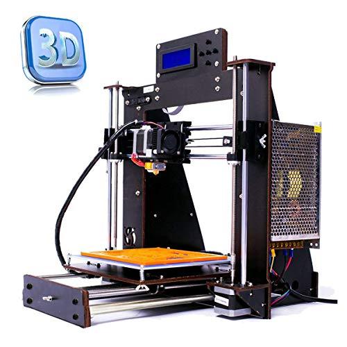 Colorfish Neue DIY 3D Drucker Prusa i3 MK8 Hochpräzise selbstmontierende Düse Desktop DIY 3D Drucker mit kostenlosem 1,75 mm ABS/PLA Druckerfaden Druckgröße 200X200X180 mm