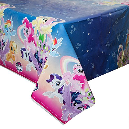 Unique Industries My Little Pony Plastic Tablecloth, 84' x 54'