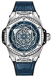 Hublot Limited Edition Sang Bleu One Click Steel Blue Diamonds Watch 465.SS.7179.VR.1204.MXM19
