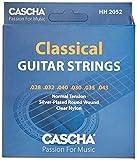 CASCHA HH 2052 Cuerdas de Guitarra Premium para Guitarras Clásicas - Cuerdas de Acero Fósforo Bronce de alta calidad para Guitarra Clásica (Juego de 6 Cuerdas) - Tensión Normal