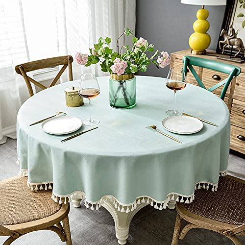 sans_marque Paño de mesa, utilizado para la cubierta de la tabla, paño de tabla rectangular impermeable, paño de mesa, paño de mesa de la cocina redondo 220cm