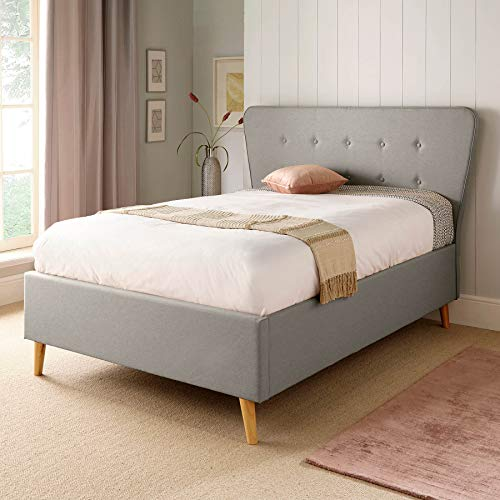 Scandanavia Medium Grey Ottoman Bed