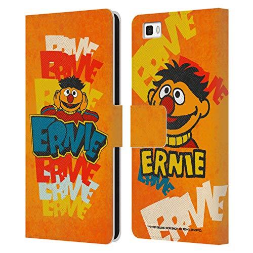 Head Case Designs Licenza Ufficiale Sesame Street Ernie Nostalgia Vintage Cover in Pelle a Portafoglio Compatibile con Huawei P8lite / ALE-L21