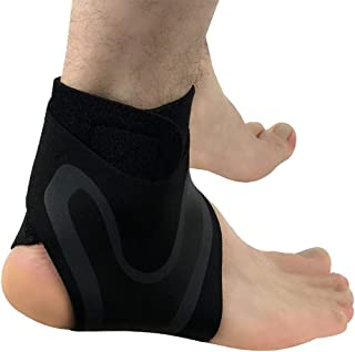 CapsA Ankle Brace for Men Women Ankle Brace Sleeve with Compression Effective Joint Pain Foot Pain Relief from Heel Spurs Ankle Foot Support Elastic Brace Guard Football Basketball Sock