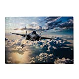 Jigsaw Puzzles for Adults Kids 300 Pieces,F 35 Fighter Jets Puzzles Game