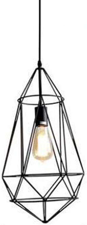 Restaurant Bar Kreative Persnlichkeit Hnge Leuchte Retro, Schmiedeeisen Nordic Hnge Lampe Diamant-Form Wohnzimmer Hngeleuchten Flure Hnge Lampe,schwarz,D