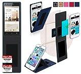 Hülle für Huawei Ascend P7 mini Tasche Cover Hülle Bumper | Blau | Testsieger