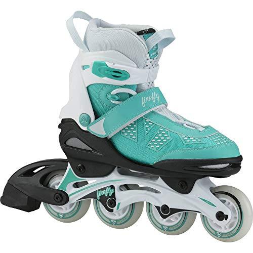 Firefly Kinder Inline Skate FF Comp ADJ Jr Inlineskates, Turquoise/White/Blac, 33