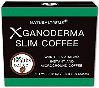 Nutrimus Prime Xganoderma Slim Coffee with 100% Arabica Instant and Microground Coffee and Vital Slimming Contents (1 Box of 30 Sachets)