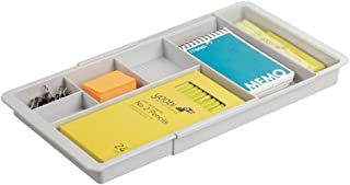 mDesign bac de rangement pour le bureau – range couvert ou papeterie extensible avec 7 casiers pour les accessoires – bac ...