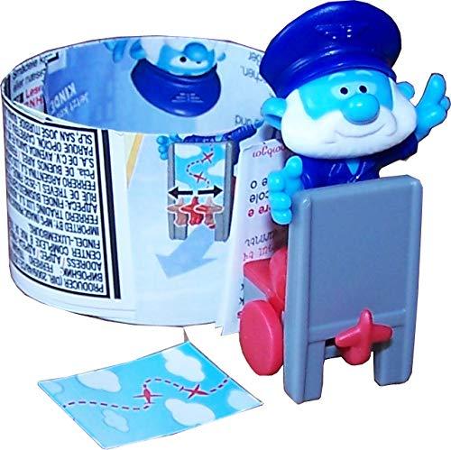 Die Schlümpfe Ü-Ei (Kinder Überraschungsei) Figur Pilot Papa, Reihe City