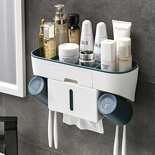 Toothbrush Holder Wall Mounted for Bathroom San Diego Mall Multifunctional Stor Japan Maker New
