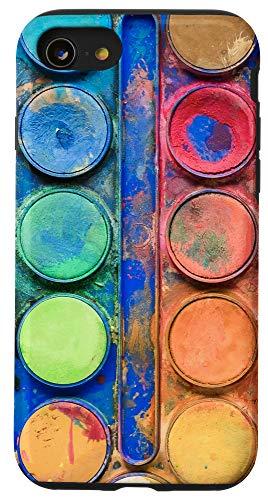 iPhone SE (2020) / 7 / 8 Watercolor Paint Palette Box - Funny Artist/Painter/Art Gift Case