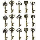 Schlüssel-Flaschenöffner - sortiert Vintage Skelett Schlüssel, Hochzeit Partyzubehör (25 Stück,...