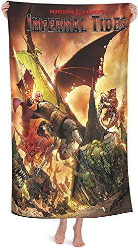 Dungeons and Dragons - Toalla de playa, toalla de baño, toalla absorbente, manta de yoga, hotel, casa, ideal para playa y piscina (A2,90 cm x 180 cm)