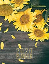 2020 Planner: Sunflower 8.5 x 11 Monthly & Weekly Organizer Agenda Appointment Book with Inspirational Quotes