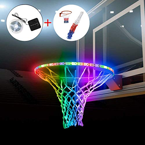 Sale!! VieVentures LED Basketball Hoop Lights Solar- Glow-in-The-Dark Basketball Rim Waterproof LED ...