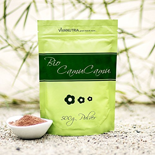 VivaNutria Bio Camu Camu Pulver 500g I Camu Camu Vitamin C Pulver hochdosiert I Camu-Camu als Superfood Pulver für Smoothies Shakes Müslitopping uvm. I natürliches Vitamin C I vegan
