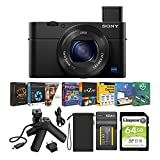 Sony Cyber-shot DSC-RX100 IV 20.1MP Digital Camera Content Creator Bundle with VCT-SGR1 Shooting Grip (5 Items)