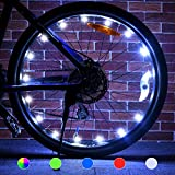 Tesoky Bike Lights (2 Tire Pack), Fit for Front or Back and Presents for All The Men, Wife, Son or Daughter, Top Unique Gifts for Kids 2021 Ideas for Him, 5 Pattern, Include 4 Battery