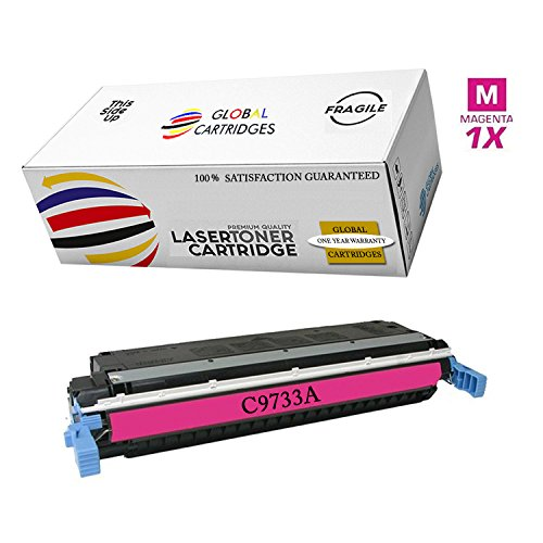 Global Cartridges Remanufactured Toner Cartridge Replacement for HP 645A / HP 5500 Magenta C9733A