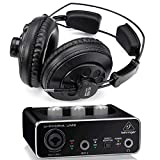 Behringer Interface Audio UM2 U-Phoria + Auriculares Estudio Pro Superlux HD668B 256 Ohm