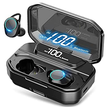 [Xmythorig Ultimate] True Wireless Earbuds Bluetooth 5.0 Headphones IPX7 Waterproof Earphones for Sports 110H Playtime w/ 3300mAh Charging Case 3D Stereo Audio Touch Control in-Ear Headset w/Mic