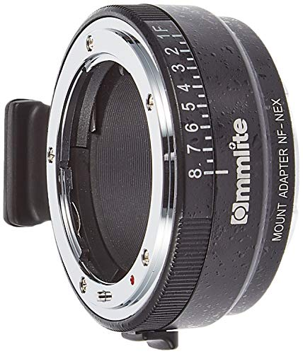 Commlite cm-nf-nex Cable Camera Lens Adapter Adaptor for Photo Lens (Nikon Al, Nikon Ai-S, Nikon D, Nikon F, Nikon G, E Mount, Black, Silver, Aluminium, Sony E-Mount, 168 g)